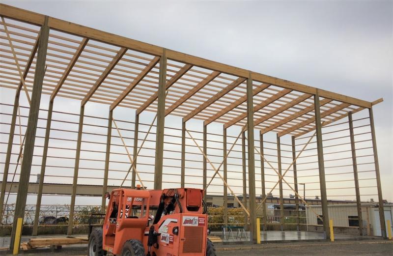 Glue Laminated Wood Columns | Titan Timbers | Timber Tech